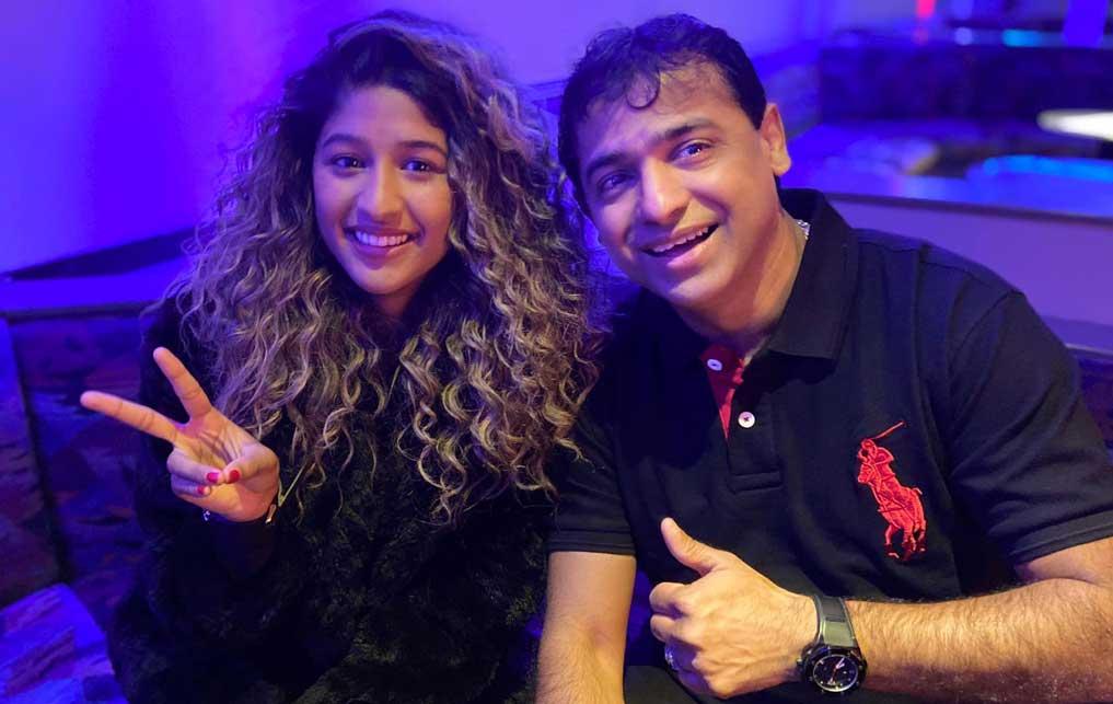 Lady Sanjana - met haar vader